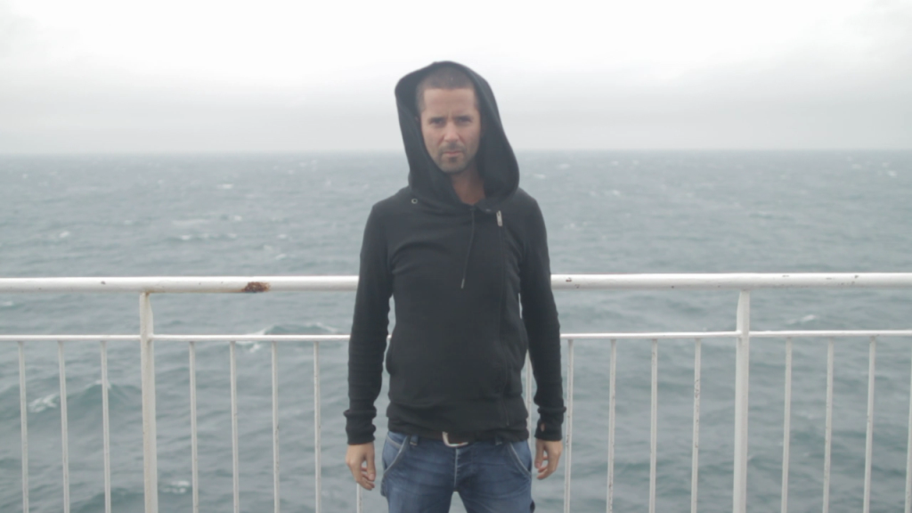 """Still photo from the """"Until We Run Out"""" video crossing the English Channel. Shot by Dan Holden."""