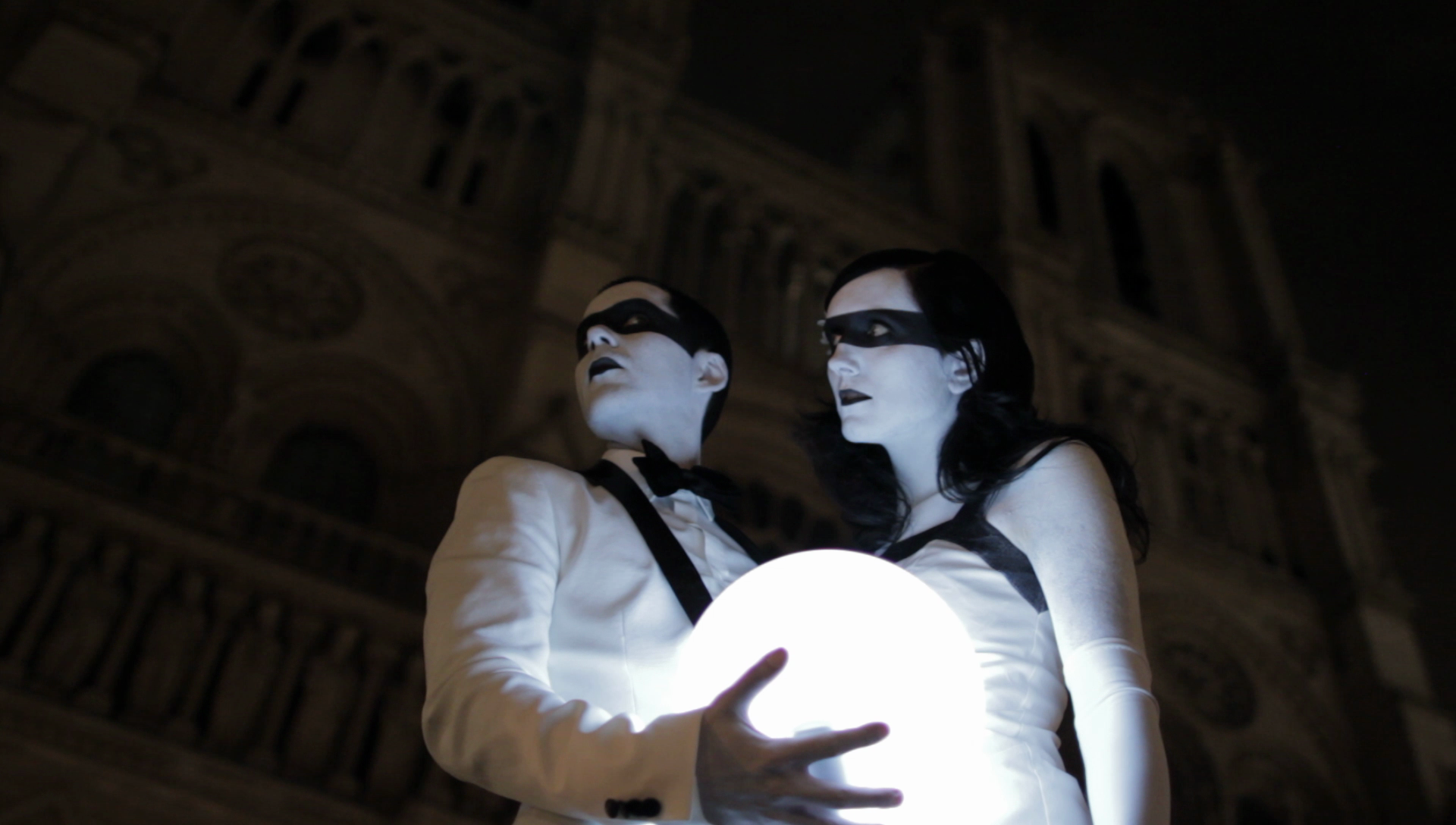 "Still photo from the ""Until We Run Out"" video in front of the Notre Dame Cathedral in Paris France. Shot by Dan Holden."